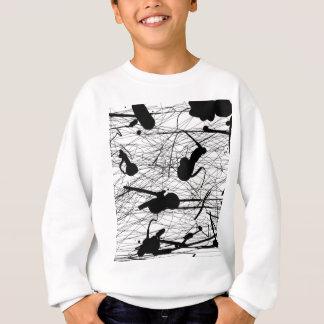 元の黒い(ばちゃばちゃ)跳ねるの絵画 スウェットシャツ