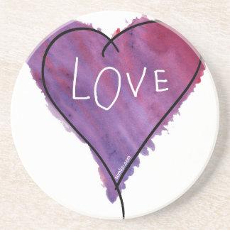 元のSumLuv -愛ハート(紫色) コースター