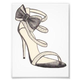 元のValentinoの靴のファッションのイラストレーション フォトプリント