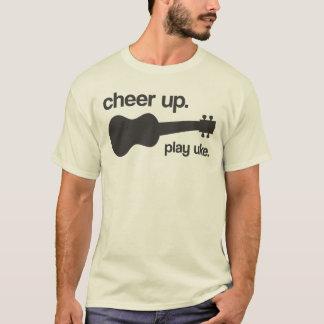元気づけて下さい。 uke.を遊んで下さい tシャツ