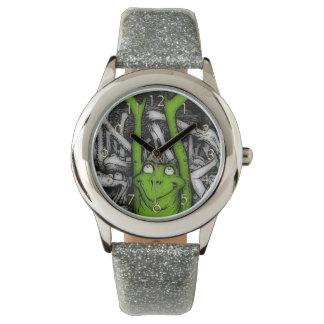 元気づけるカエル 腕時計