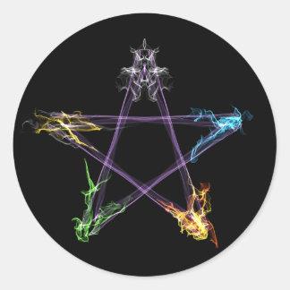 元素エネルギー星形五角形 ラウンドシール