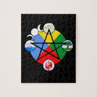 元素五芒星のパズル ジグソーパズル