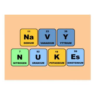 元素海軍原子力 ポストカード