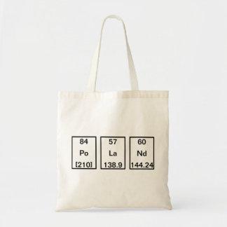 元素: ポロニウム、ランタン、ネオジム トートバッグ