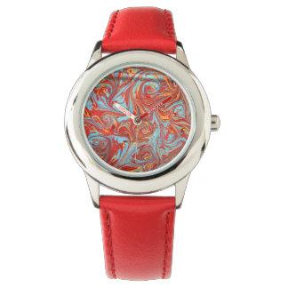 「元素」大理石模様をつけられた腕時計 腕時計
