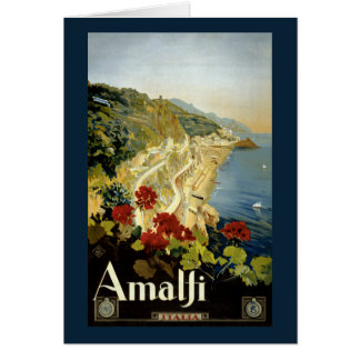 元通りになるアマルフィイタリアイタリアのヴィンテージポスター カード