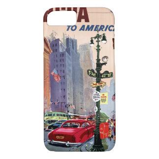 元通りになるアメリカのヴィンテージポスターへのはえBCPA iPhone 8/7ケース