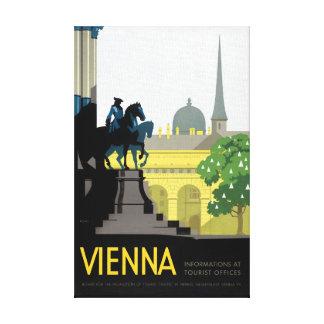 元通りになるウィーンのヴィンテージ旅行ポスター キャンバスプリント