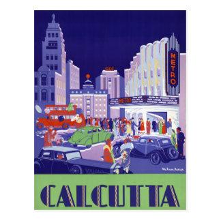元通りになるカルカッタのヴィンテージ旅行ポスター ポストカード