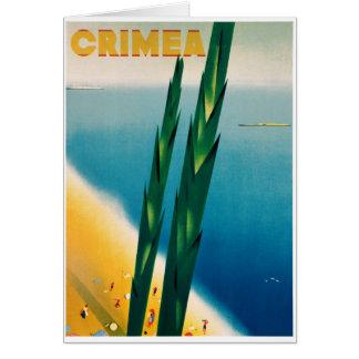 元通りになるクリミアのヴィンテージ旅行ポスター カード