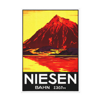 元通りになるスイス連邦共和国Niesenのヴィンテージ旅行ポスター キャンバスプリント