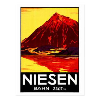 元通りになるスイス連邦共和国Niesenのヴィンテージ旅行ポスター ポストカード