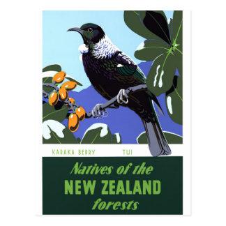 元通りになるニュージーランドのヴィンテージ旅行ポスター ポストカード
