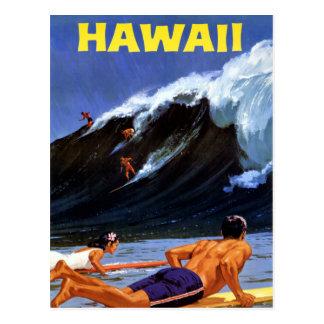 元通りになるハワイのヴィンテージ旅行ポスター ポストカード