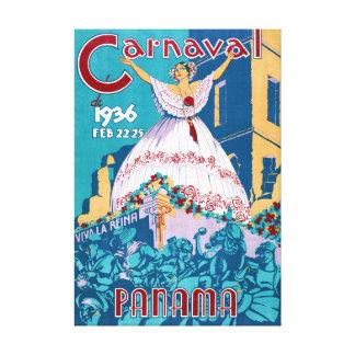 元通りになるパナマカーニバルのヴィンテージ旅行ポスター キャンバスプリント