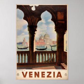 元通りになるベニスVeneziaのヴィンテージ旅行ポスター ポスター
