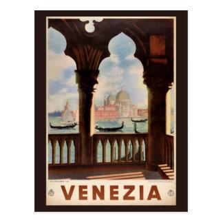 元通りになるベニスVeneziaのヴィンテージ旅行ポスター ポストカード