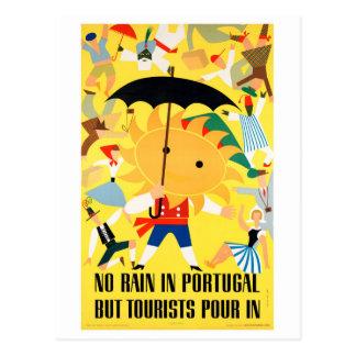 元通りになるポルトガルのヴィンテージ旅行ポスター ポストカード