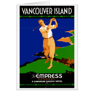 元通りになる米国バンクーバー島のヴィンテージポスター カード