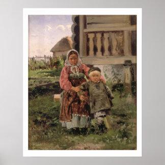 兄弟および姉妹1880年 ポスター