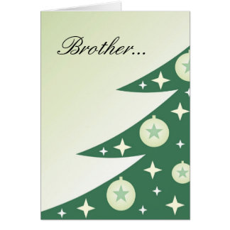 兄弟のための花型女性歌手のクリスマスカード カード