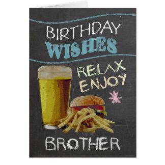 兄弟のビールとの粋な黒板の効果、 カード