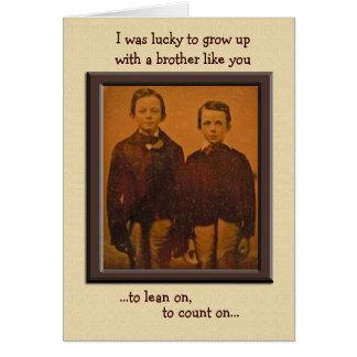 兄弟のユーモアのあるなバースデー・カード カード