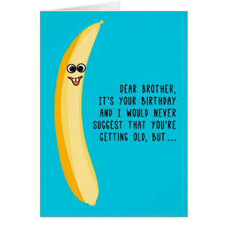 兄弟の緑のバナナのためのおもしろいな誕生日 カード