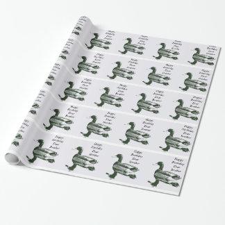 兄弟の誕生日、黒く及び白いアヒル、ギフト用包装紙 ラッピングペーパー