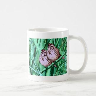 兄弟の鳥 コーヒーマグカップ