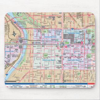 兄弟愛の都市の地図を描くこと マウスパッド