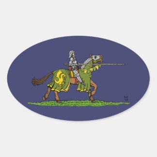 充満騎士 楕円形シール