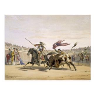 充満1865年に続くBull (ついている色 ポストカード