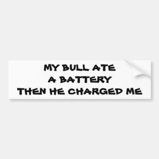 充満Bull電池のしゃれ バンパーステッカー
