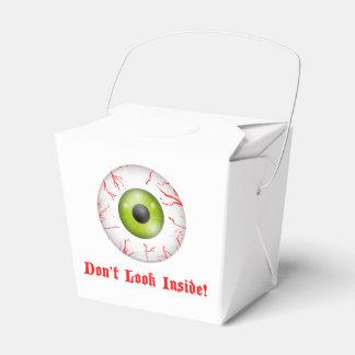 充血した目のハローウィンパーティは箱を取ります フェイバーボックス
