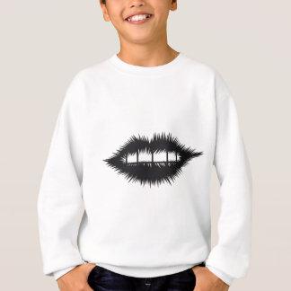 充電された唇 スウェットシャツ