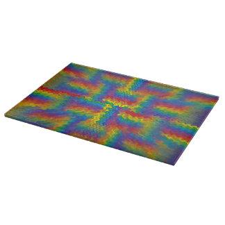 充電された虹のまな板 カッティングボード