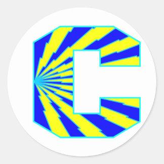 充電器|ヘルメット|ロゴ 丸形シール・ステッカー