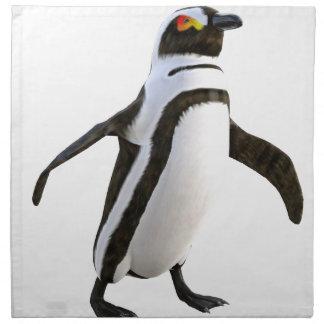 先に歩いているペンギン ナプキンクロス