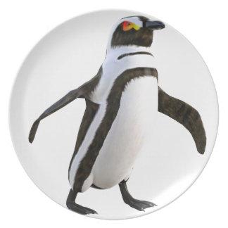 先に歩いているペンギン プレート