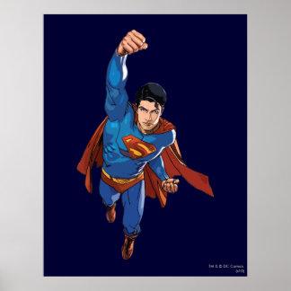 先に飛んでいるスーパーマン ポスター