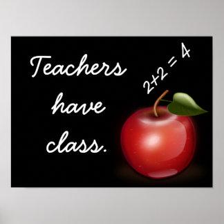 先生にクラスがあります --- 芸術のプリント ポスター