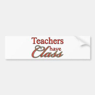 先生にクラスオレンジがあります バンパーステッカー