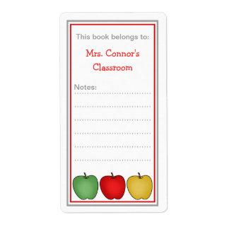 先生のための3りんごの学校の蔵書票 ラベル