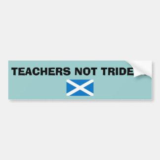先生のない三叉の矛のスコットランド人の独立 バンパーステッカー