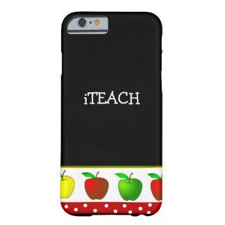 先生のカラフルなりんごのiPhone6ケース Barely There iPhone 6 ケース