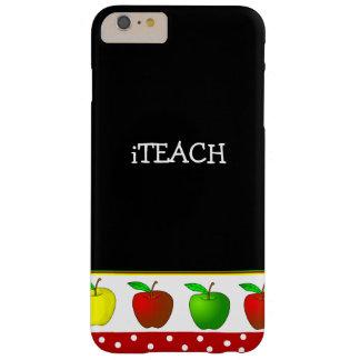 先生のカラフルなりんごのiPhone 6のプラスの場合 Barely There iPhone 6 Plus ケース