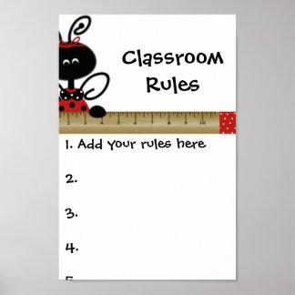 先生のクラス規則ポスター ポスター