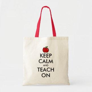 先生のトートバック|の赤いりんごは平静を保ちましたり及び教えます トートバッグ